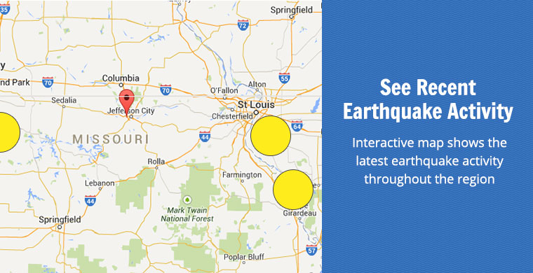 See Recent Earthquake Activity - Interactive map shows the latest earthquake activity throughout the region.
