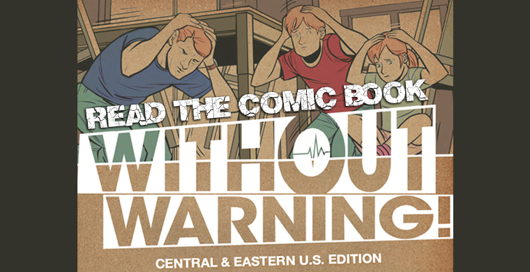 >Earthquake Themed Comic Book Without Warning