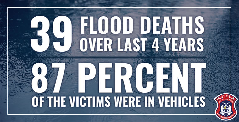 39 flood deaths over last 4 years - 87 percent of the victims were in vehicles