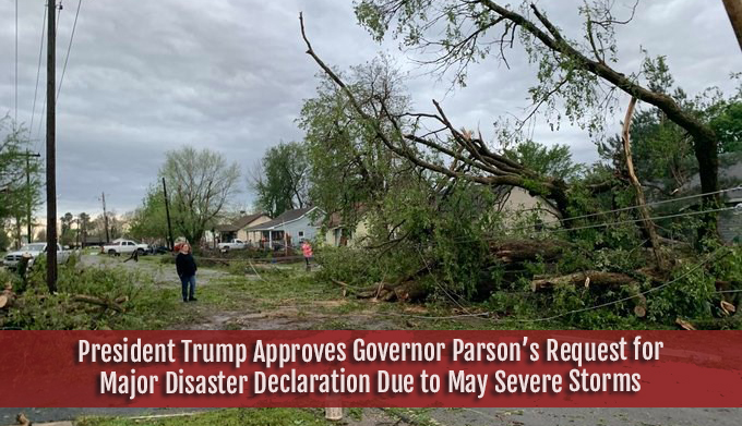 Trump approves Gov Parson request for major disaster declaration due to severe storms