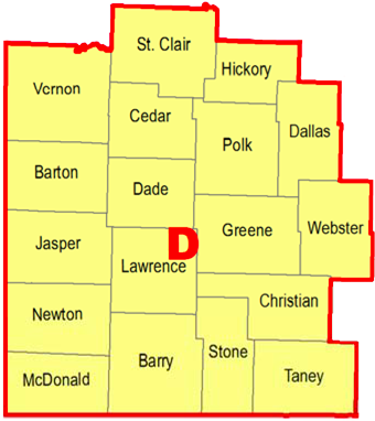 Regional Coordinators Map - Section D