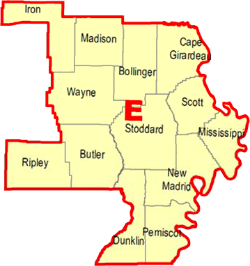 Regional Coordinators Map - Section E