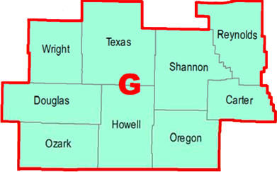 Regional Coordinators Map - Section G