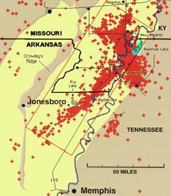 Of Magnitude 6 0 Or Greater Occurs About Once Every 80 Years The Last That Was A Event In 1895 Near Charleston Missouri