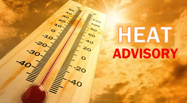 Heat advisory thermometer