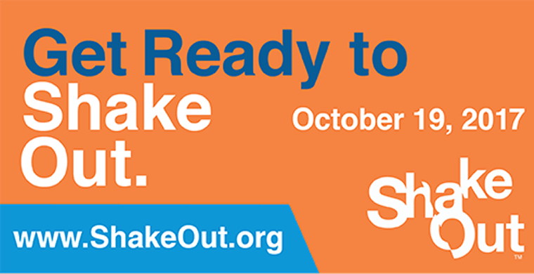 Ready to Shake Out  October 19, 2017.